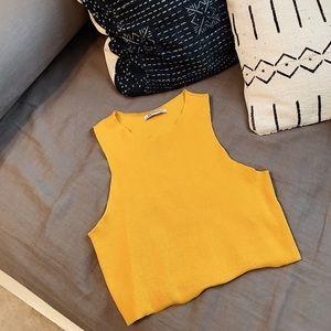 Yellow Zara croptop